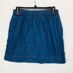 BDG Lightweight BDG Denim Skirt with Pockets